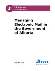 Managing Electronic Mail in the Government of Alberta