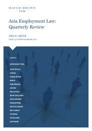 Asia Employment Law Quarterly Review