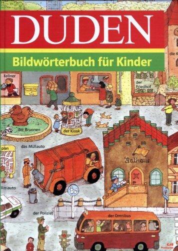 DUDEN, Bildworterbuch Fur Kinder