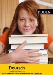 DUDEN, Deutsch Das Oberstufenbuch