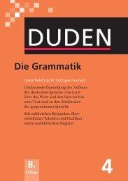 DUDEN, Die Grammatik Unentbehrlich für richtiges Deutsch