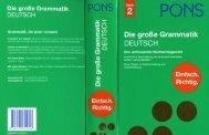 PONS, Die grosse Grammatik Deutsch - Band 2