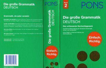 PONS, Die grosse Grammatik Deutsch - Band 2