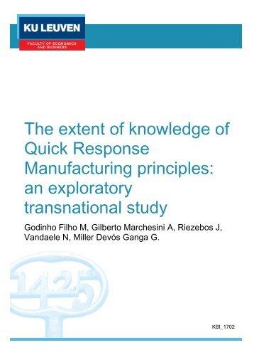 Manufacturing principles an exploratory transnational study