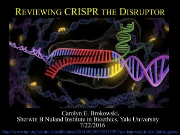 """Reviewing CRISPR the Disruptor"" by Carolyn Brokowski"
