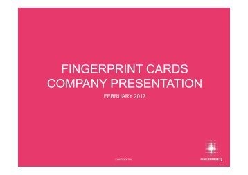 FINGERPRINT CARDS COMPANY PRESENTATION