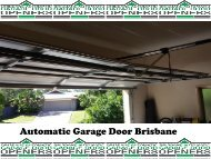 Automatic Garage Door Brisbane