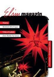 Elim Magazin November / Dezember 2014