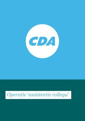 Operatie 'assistentie collega'