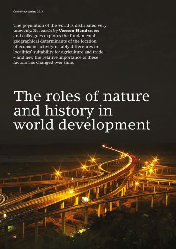 The roles of nature and history in world development