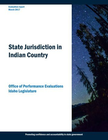 State Jurisdiction in Indian Country