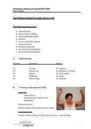Klinische Untersuchung SCHULTER ... - Staatsexamen