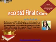 ECO 561 Final Exam answers for free