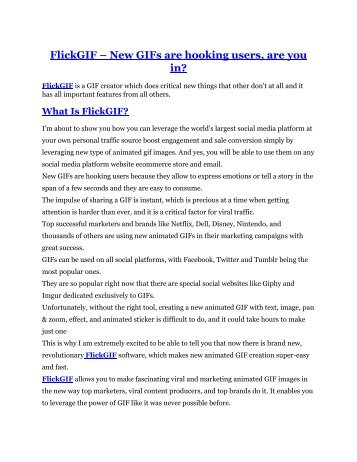 FlickGIF review & bonus - I was Shocked!