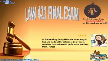 LAW 421 Final Exam Question & Answer 2017 | LAW 421 Exams 2016, 2014 Answers