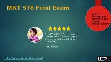 MKT 578 Final Exam 2017