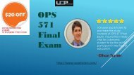 OPS 571 Final Exam 2017 | Answers free | Operating Management