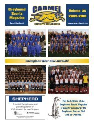 Champions Wear Blue and Gold - Carmel Clay Schools