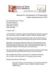 Request for Consideration of Prosecutions Under Genocide Act of 1973