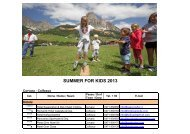 SUMMER FOR KIDS 2013 - Alta Badia