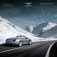 2013 ALPINE GRAND TOUR - Bentley Motors