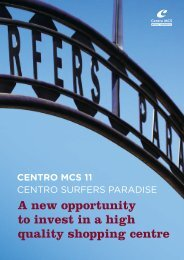 CENTRO SURFERS PARADISE A New Opportunity To invest