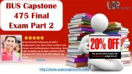 BUS 475 Capstone Final Examination Part 2 2017 Questions and Answers