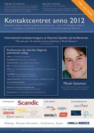 Kontaktcentret anno 2012  - MBCE
