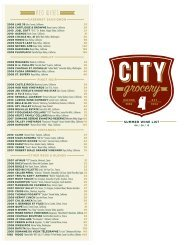 RED WINES - City Grocery