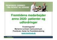 Fremtidens medarbejder anno 2020 - patienter og udfordringer