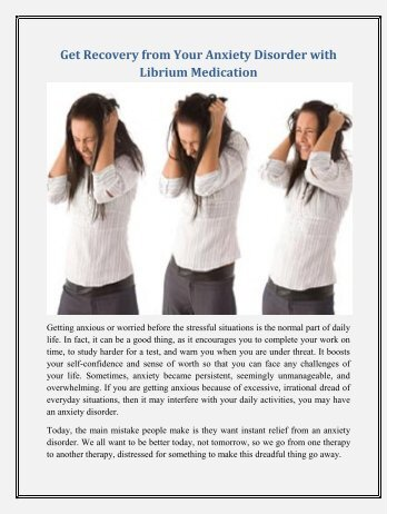 Get Recovery from Your Anxiety Problem with Librium 25mg