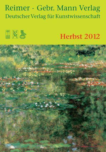 Vorschau Herbst 2012 - Gebr. Mann Verlag