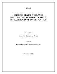 Draft ORMOND BEACH WETLANDS RESTORATION FEASIBILITY ...