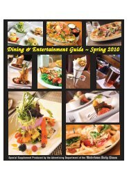 Dining & Entertainment Guide - Watertown Daily Times