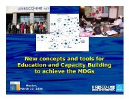 New concepts and tools for Education and Capacity Building to ...