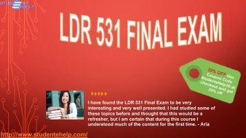 LDR 531 week 6 Final Exam Questions & Answers | University of Phoenix