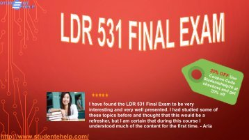 LDR 531 week 6 Final Exam Questions & Answers | University of Phoenix