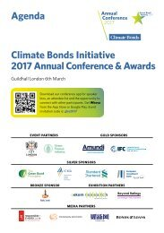Agenda Climate Bonds Initiative 2017 Annual Conference & Awards