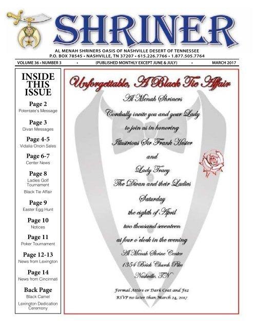 SHRINER MARCH 2017