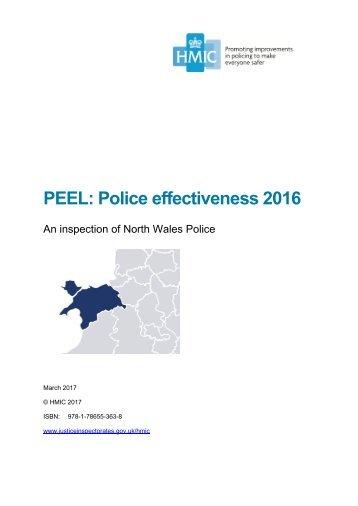 PEEL Police effectiveness 2016