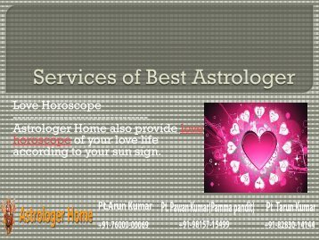 Services of Astrologer Home - The Best Astrologer - Part 3