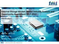 External Storage Market Revenue, Opportunity, Segment 2027