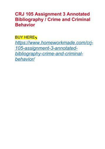 Annotated Bibliography     Course Hero