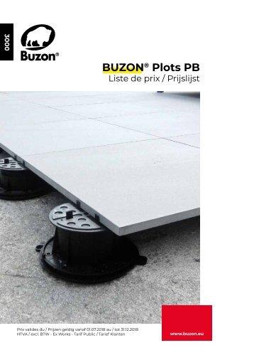 Prijslijst Buzon PB serie 2018