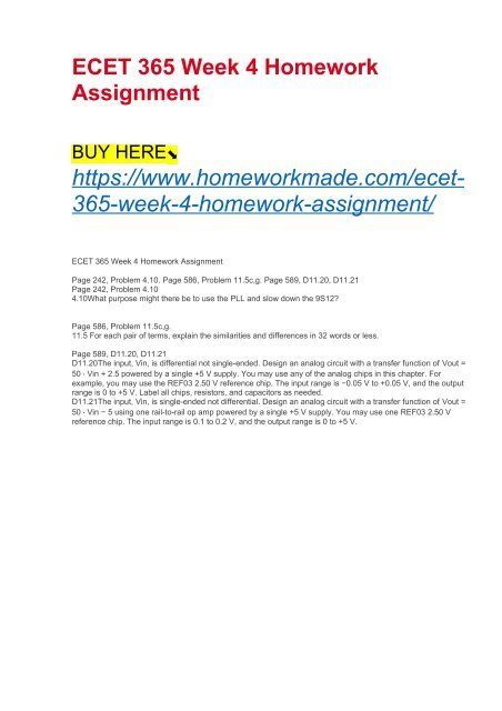 ecet 365 homework