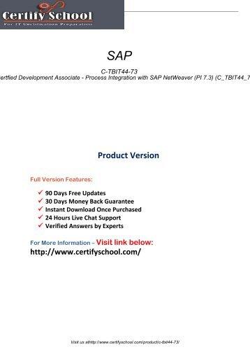 C-TBIT44-73 Latest Certification