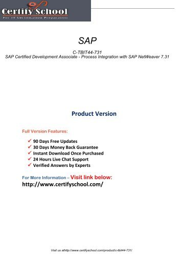C-TBIT44-731 Latest Certification