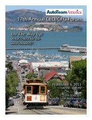 17th Annual CEO/CFO Forum - Auto Team America