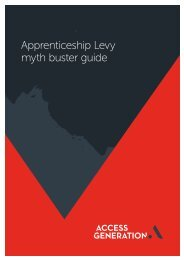 Apprenticeship Levy myth buster guide
