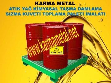 ibc akaryakit yag toplama kuveti tehlikeli madde sizma tavasi biriktirme paleti KARMA METAL